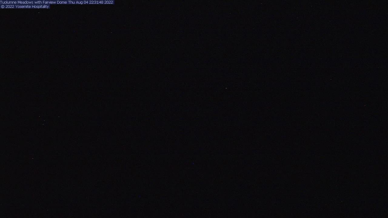 Tuolumne Meadows with Fairview Dome Webcam