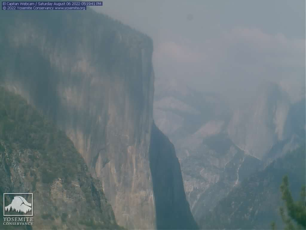 El Capitan (east) webcam, courtesy Yosemite Conservancy