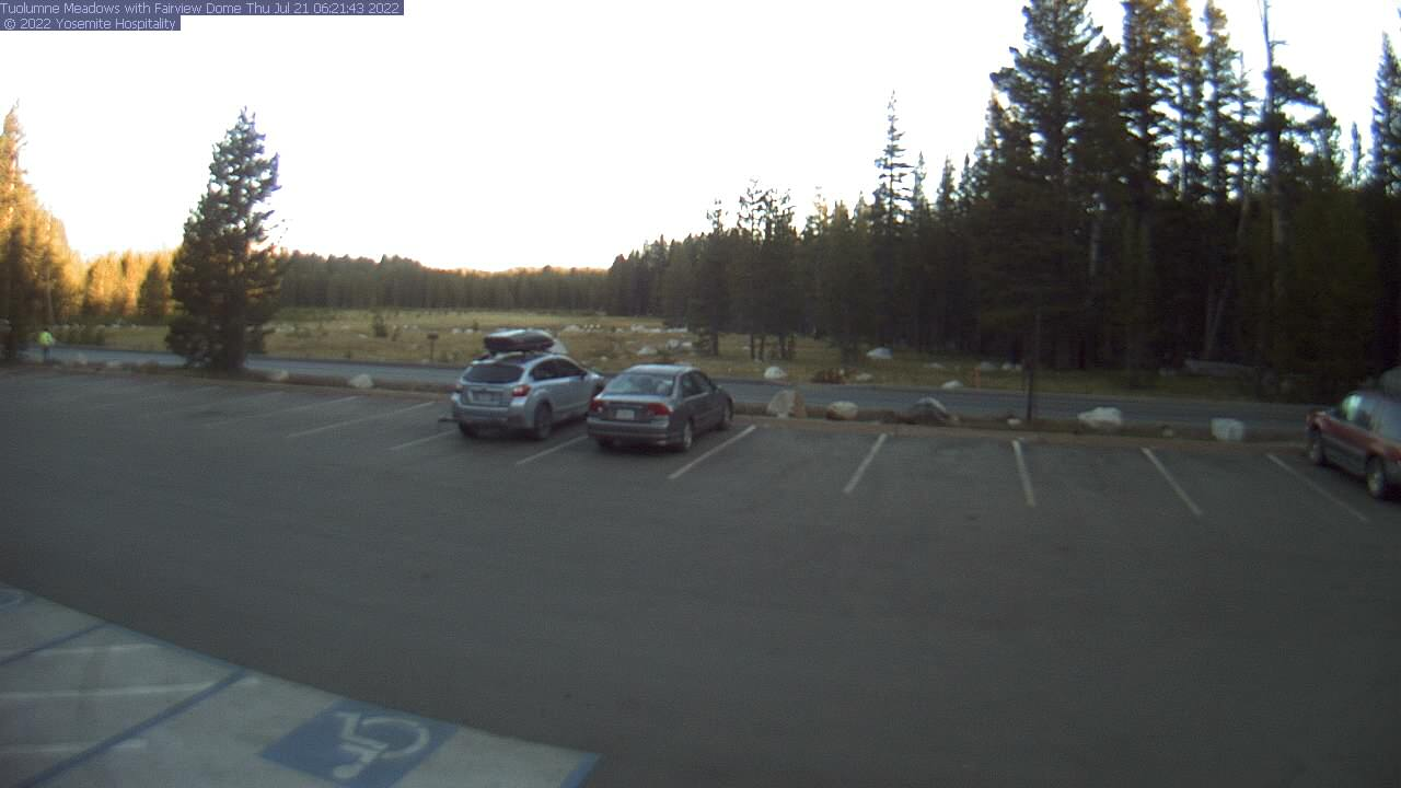 View of Tuolumne Meadows from the Tuolumne Meadows Store